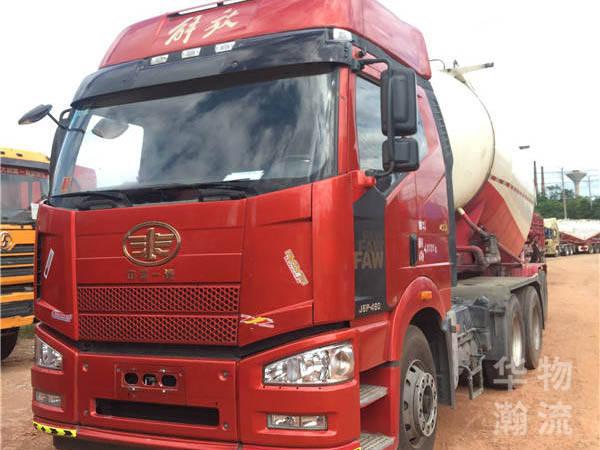 解放j6p牽引車水泥罐車、460馬力。國五排放